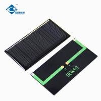 China 0.43W mini transparent solar cells for solar powered dancing toy ZW-8040-9V 70MA