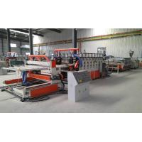 China Wood Plastic Double Screw Extruder , Foam Board Extrusion Line