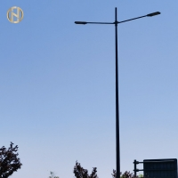 Quality Single Arm / Double Arm 10M Q235 Street Light Pole for sale