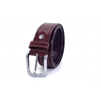 China ODM 3.5cm Classic Buckle Mens Brown Leather Dress Belt