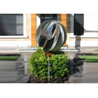 China Attractive Stainless Steel Sphere Sculpture / Contemporary Steel Sculpture