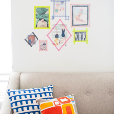 washi tape for wall decoration