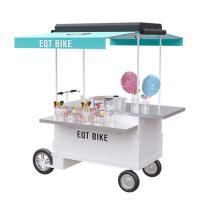 China Pedal / Electric Street Vendor Cart User Friendly Easy Mobile Business