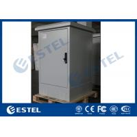 China IP55 Galvanized Steel Single Wall Outdoor Telecom Cabinet With Front Rear Access