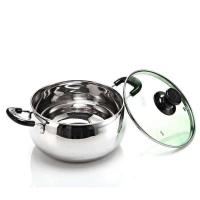 China Mirror Finished Stainless Steel Cooking Pans , High Polishing ss Cooking Pots