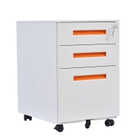 China Commercial Furniture Slim Steel Mobile Pedestal Thin Movable Filing Cabinet
