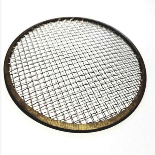 China Stainless Steel 304 316 Aperture 4um Wire Mesh Filter Disc With Enfolded Edge