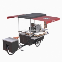 China 220V Steel Wooden Street Load 300KG Bicycle Coffee Cart