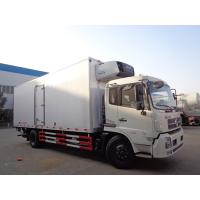 China Dongfeng 10 Ton Refrigerated Truck , -15 ℃ Refrigerated Delivery Truck With Rear