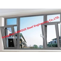 China Low-E 5mm+12A+5mm Double Tempered Clear Glass Awning Window with Operator Handle