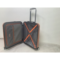 China 210D Polyester ABS Luggage With Hardside Spinner Wheels