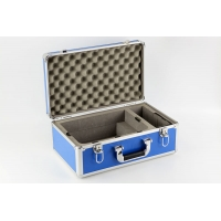 China Customized Aluminum Blue Instrument Carrying Cases With Die Cut Foam Slots
