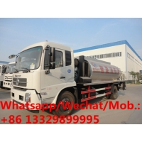 China Customized dongfeng tianjin 4*2 RHD 12,000L mobile asphalt tanker vehicle for