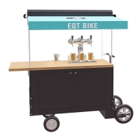 China Box Structure Wooden 350W Beer Mobile Vending Cart