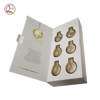 China Hot Stamping Customized design Ivory Board Cosmetic Gift Box