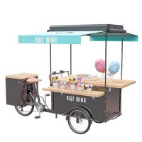 China Mobile Street Food Cart User Friendly For Snack Cotton Candy Vending
