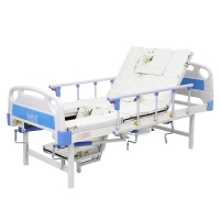 China Patient Home Care Adjustable Nursing multi-function Bed with Toilet Commode