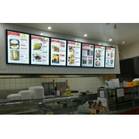 Quality Restaurant Menu 6063 Aluminum Magnetic LED Light Box easy install and easy for sale