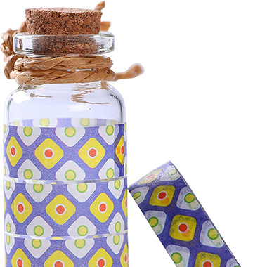 washi tape for container decoration