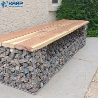 China China Welded Gabion Retaining Wall with Fence on Top Welded Gabion Bench