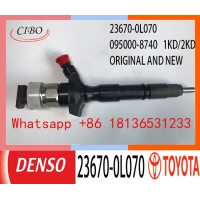 China ISO 23670-0L070 095000-8740 Auto Fuel Injector For TOYOTA Hilux