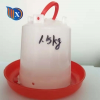 China 10L 15L Plastic Bucket Hanging Poultry Feeder Drinker