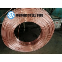 China ASTM A254 Thin Copper Pipe , DC04 6*0.65mm Both Side Bundy Copper Coated Pipe