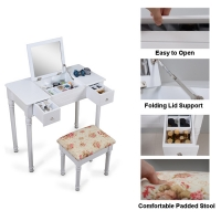 China 75m Height Multifunctional Modern Wooden Dressing Table NC Painting