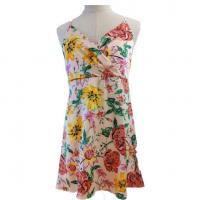 China Summer Floral Print Beach Maxi Tie Ladies Casual Wear Sleeveless Sexy Camisole