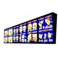 Quality Fast way restaurant Menu display Aluminum Magnetic LED Light Box easy install for sale
