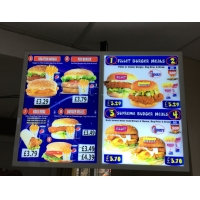 Quality Shop store restaurant Menu display Aluminum Magnetic LED Light Box easy install for sale
