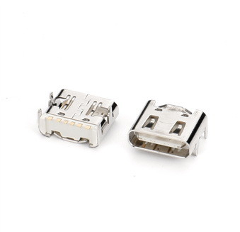 China 6 Pin SMT Type For Mobile Phone Charging c type connector vertical connector