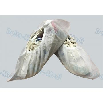 China PP White Non Slip Shoe Covers , Lightweight Waterproof Protective Shoe Covers