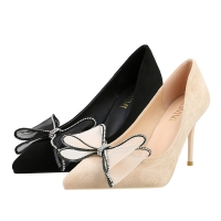 China ZM002 929-42 Korean Version 2020 New Pointed Pumps Stiletto High Heels Large